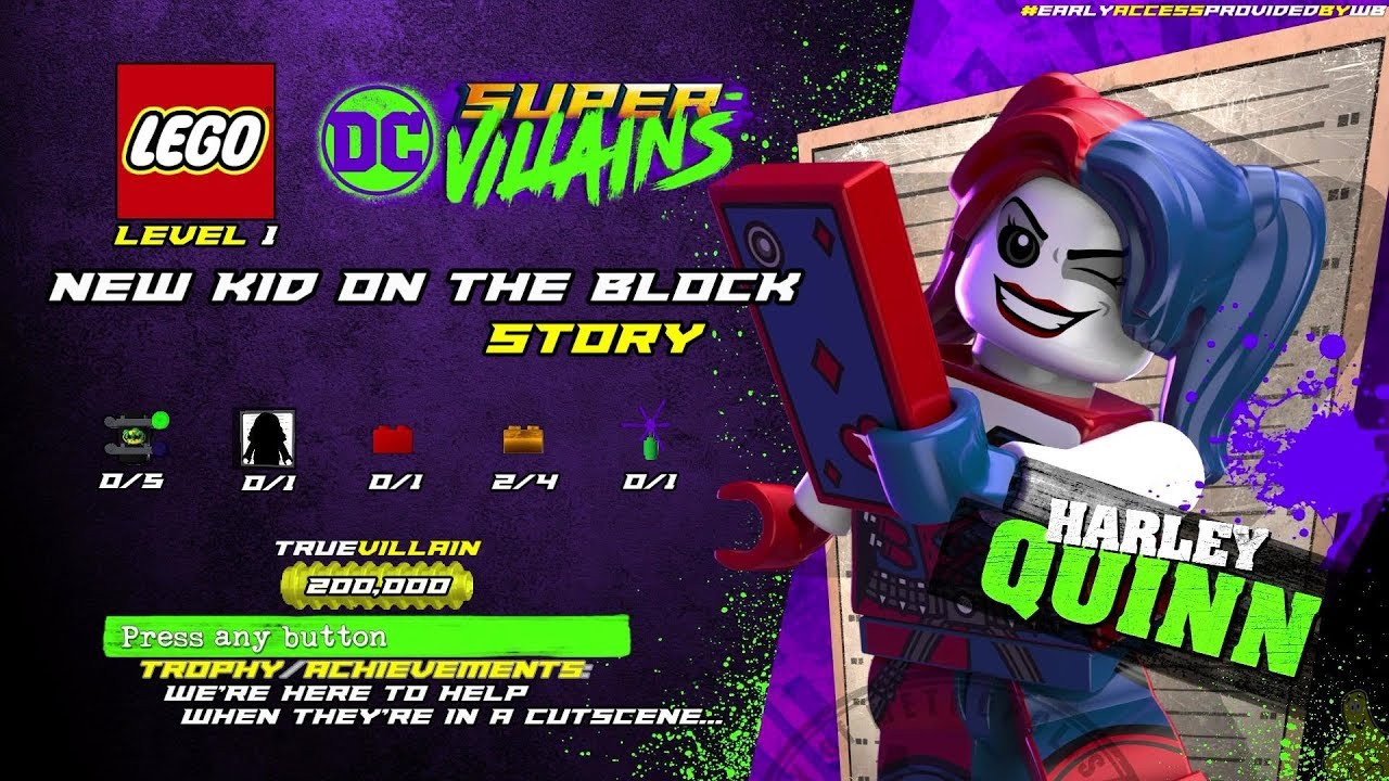 Lego DC Super-Villains: Level 1 / New Kid On The Block STORY – HTG