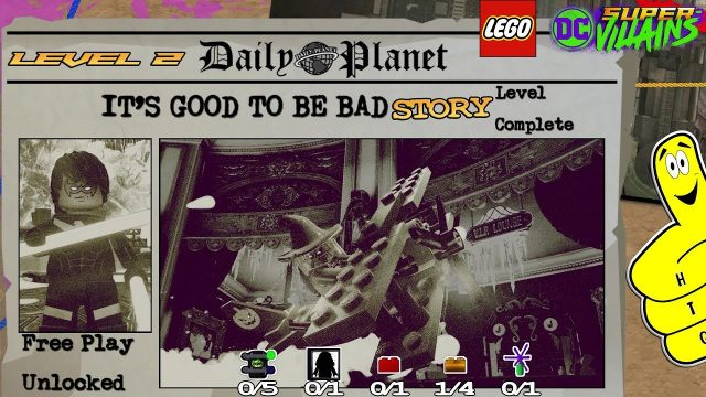 Lego DC Super-Villains: Level 2 / It's Good To Be Bad STORY – HTG