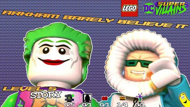 Lego DC Super-Villains: Level 5 / Arkham Barely Believe It STORY – HTG