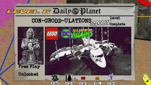 Lego DC Super-Villains: Level 6 / Con-Grodd-ulations STORY – HTG