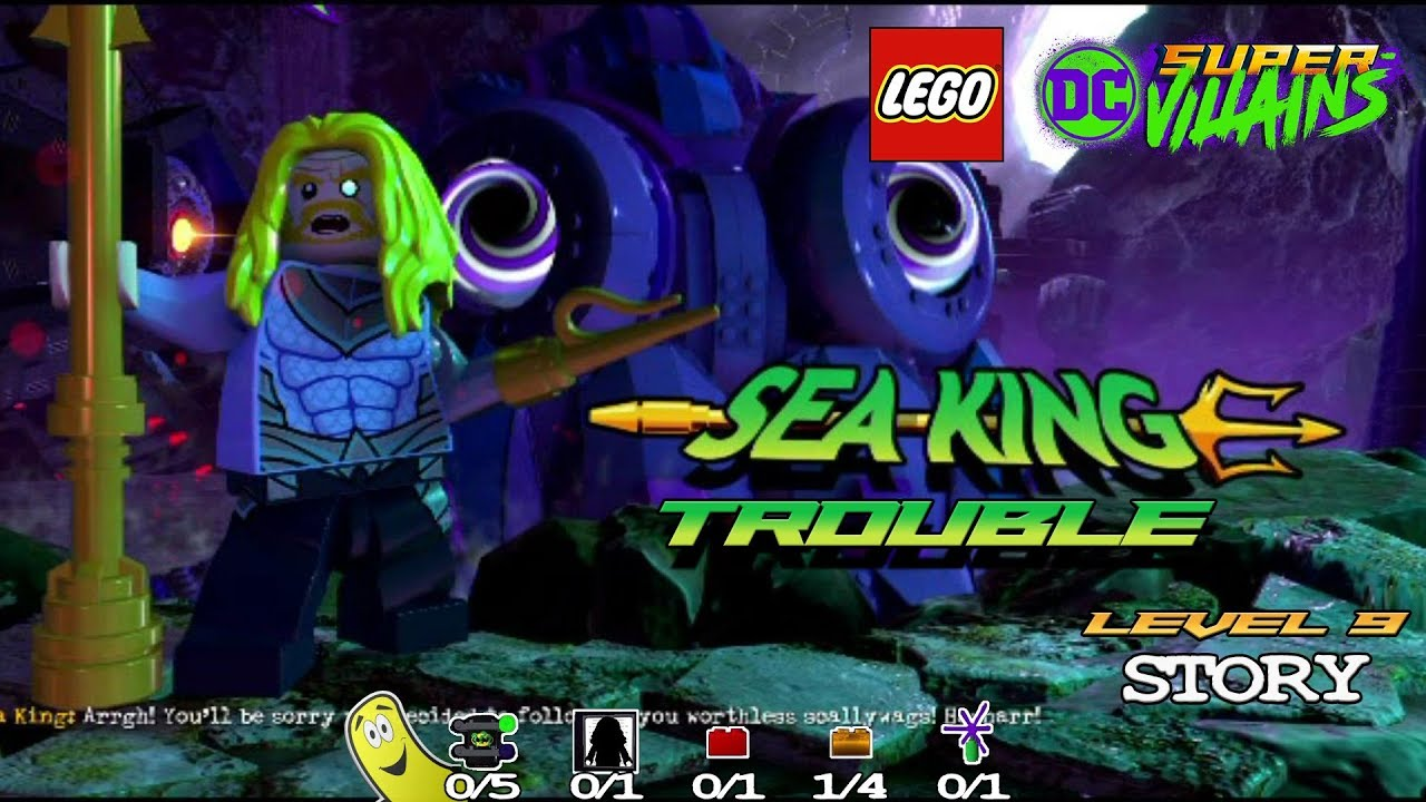 Lego DC Super-Villains: Level 9 / Sea-king Trouble STORY – HTG
