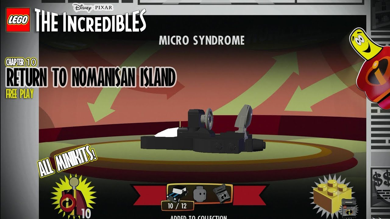 Lego The Incredibles: Return to Nomanisan Island FREE PLAY (All 10 Minikits) – HTG